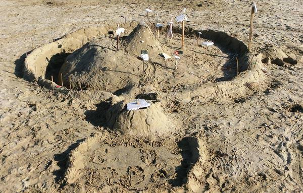 Sandburgenwettbewerb-kreativ