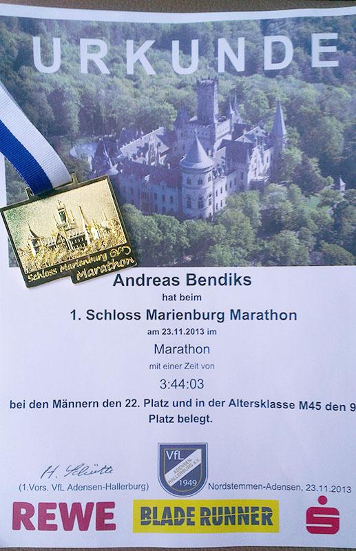 1. Schloss Marienburg Marathon