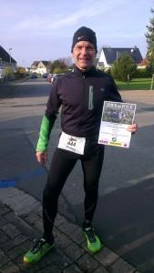 Andreas überglücklich nach seinem Sieg in der Altersklasse M55.